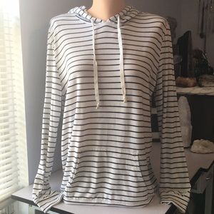 Express one eleven thin stripped hoodie
